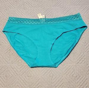 Victoria's Secret turquoise brief, size L